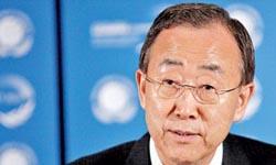 بان کی مون دبیر کل سازمان ملل متحد