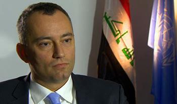 ملادينوف: نعمل على إخراج منظمة خلق من العراق