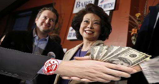 Donald Trump Cabinet pick Elaine Chao was paid by