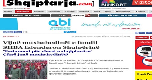 Albanian Paper: Last of the Mojahedin Khalq arrived to Albania – USA thanks Albania