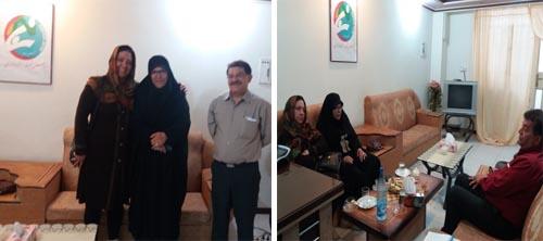 حضور خواهران محترم ایران پور در دفتر انجمن نجات خوزستان