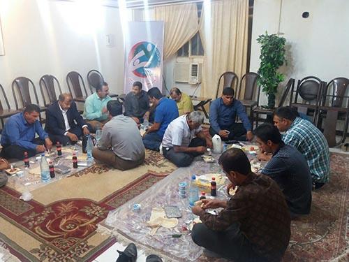 میهمانی افطاری اعضای جدا شده دردفترانجمن نجات خوزستان