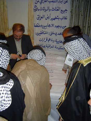 Iraqi Sunnies visit secretary General of Habilian Association