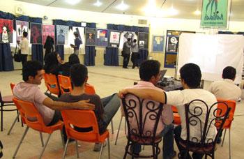 معرض ايران ضحية الإرهاب في جامعة قزوين