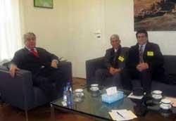 ملاقات نمایندگان کانون رهائی با سفیر عراق در هلند